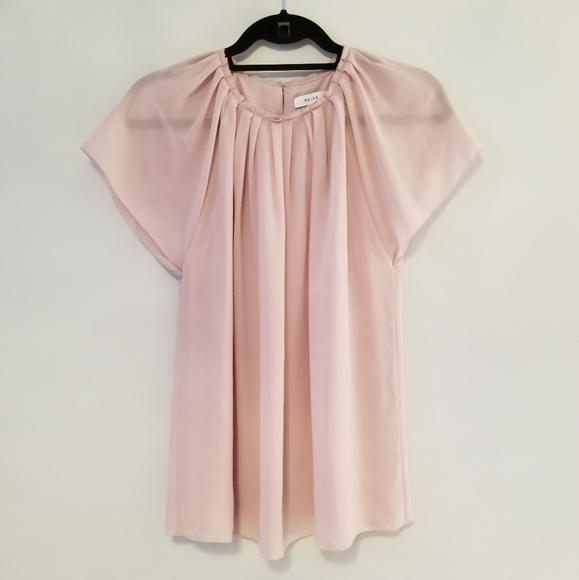 Reiss light pink blouse